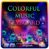 Colorful music theme keyboard