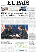Photo: El PSOE alienta pactos con IU para gobernar Andalucía y Extremadura; La Caixa pasa a ser el primer banco español tras comprar Banca Cívica; y Montoro augura una inminente alza de impuestos a las empresas, entre los temas de nuestra portada de este martes, 27 de marzo http://srv00.epimg.net/pdf/elpais/1aPagina/2012/03/ep-20120327.pdf