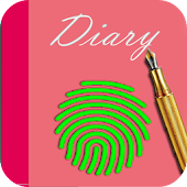 secret diary with fingerprint 2018 cute