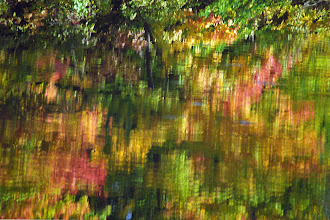 Photo: Fall Explosions on a Mill Pond