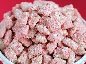 Peppermint Bark Puppy Chow Recipe
