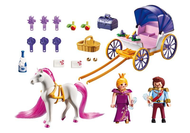 Contenido Real de  Playmobil® 6856 Pareja Real con Carruaje
