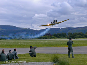 Photo: Low pass by North American T-6 Harvard at Vaernes airfield (TRD/ENVA)