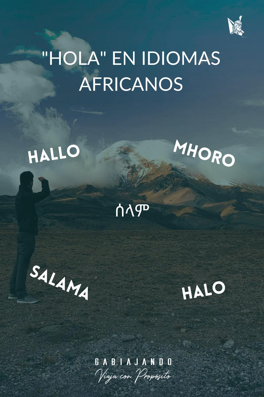 Como se dice hola en diferentes idiomas africanos