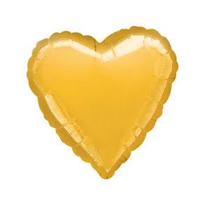 Folieballong, hjärta guld