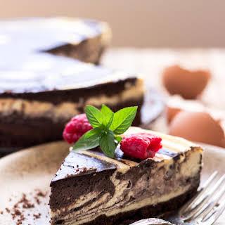 Low Carb Zebra Cheesecake (Gluten-free).