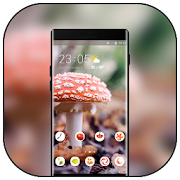 Theme for plant mushroom bright wallpaper icon