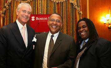 Photo: Ike Williams, Chief Justice Roderick Ireland (SJC), and Adrian Walker (Boston Globe).