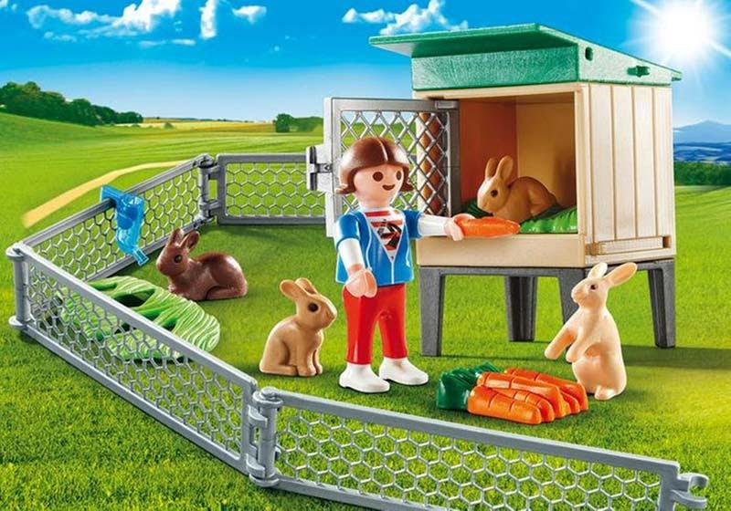 Contenido real de Playmobil® 9104 Maletín Conejos
