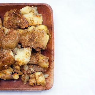 Za'atar Smashed Potatoes.