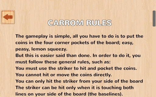 carrom rules All india carrom federation (aicf) came into existence in 1956, when it put forward certain specific rules and regulation for the game rules of carrom are universally followed all around the world previously when the game was first discovered, people played the game making their own set of laws.