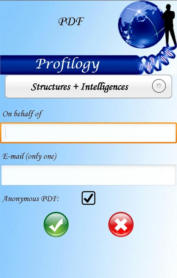 Profilogy- screenshot
