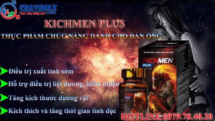 công dụng kichmen plus là gì