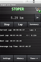 Screenshot of Stopwatch and Timer Pro