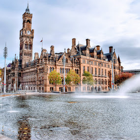BRADFORD CITY HALL by Betty Taylor - City,  Street & Park  City Parks ( travel photography, waterscape, architecture )