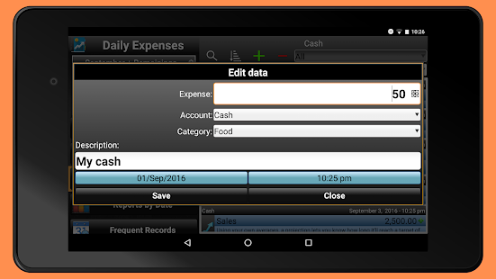Daily Expenses 2 Screenshot