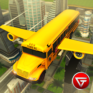 Flying School Bus Simulator 3D for PC and MAC