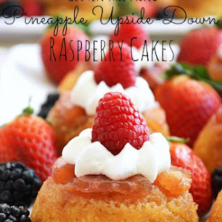 Gluten Free Mini Pineapple Upside-down Raspberry Cakes