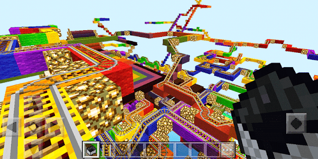 Rainbow road. Map for MCPE - náhled