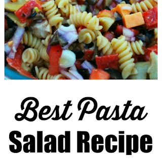 #ad Best Pasta Salad with chicken, pepperoni, and Italian dressing