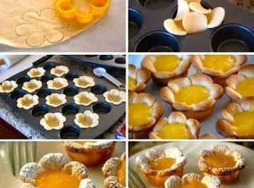 Lemon Flower Tarts