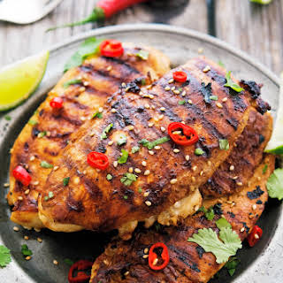 Grilled Soy-Lime Chicken Breasts.