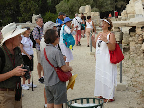 Photo: Our guide Sophia described the process of restoring the historic buildings.