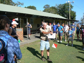 "Photo: Bob & novice briefing - ""this is what you need to find"" - Walkabout in a Water Wonderland - Wallarah 6 hour Metrogaine, 10 Feb 2013"
