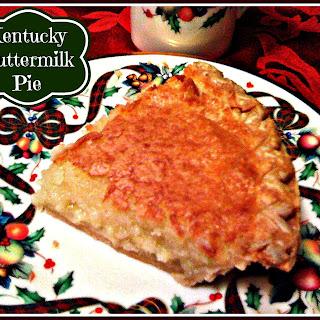 Kentucky Buttermilk Pie!