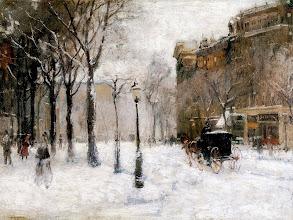 "Photo: Paul Cornoyer, ""Inverno a New York"" (1901)"