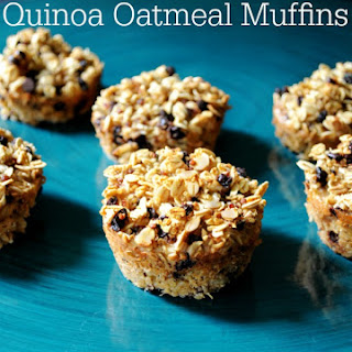 Chocolate Chip Quinoa Oatmeal Muffins