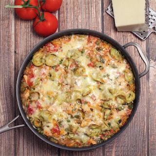 Chicken and Tortellini Skillet