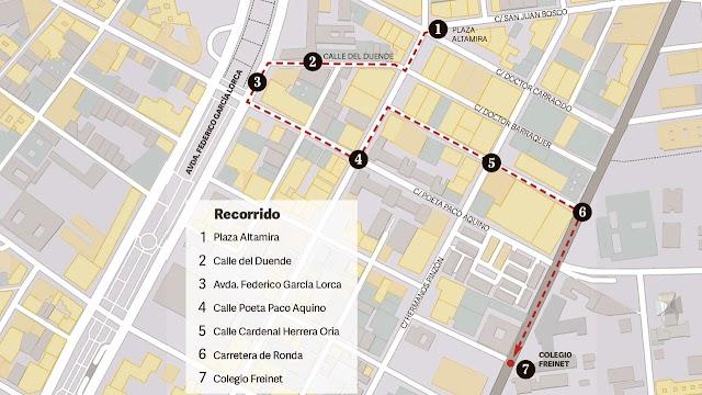 Recorrido por las calles del barrio de Altamira