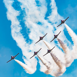 Italian display team by Tristan Wright - Transportation Airplanes ( #italiandisplayteam #airtattoo2018 #aircraft )