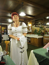 Photo: Our waitress in Hotel Irma