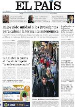 """Photo: Rajoy pide unidad a los presidentes para calmar la tormenta autonómica, Bruselas observa deficiencias en la seguridad de las nucleares, Grecia padece más recortes en medio de una ola de movilizaciones, la UE abre la puerta al rescate de España """"cuando sea necesario"""" e imputados los dos alcaldes del PP de Alicante por cohecho, entre los titulares de nuestra portada del martes, 2 de octubre de 2012. http://srv00.epimg.net/pdf/elpais/1aPagina/2012/10/ep-20121002.pdf"""