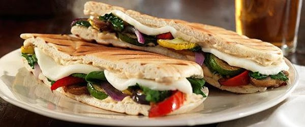 Grilled Veggie Pita Press / Queso Fresco /hummus Recipe