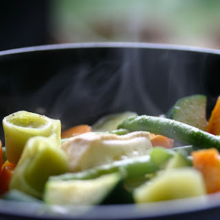 Steamed Vegetables With Cheese.