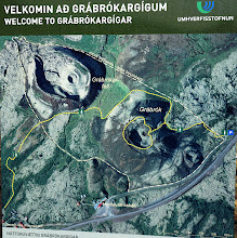 Photo: We walked along Grábrók's rim (yellow circle on this map).