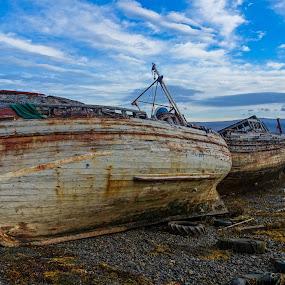 Abandoned Scottish Fishing Boat by Dave Tucker - Transportation Boats ( abandoned scottish fishing boat mull )