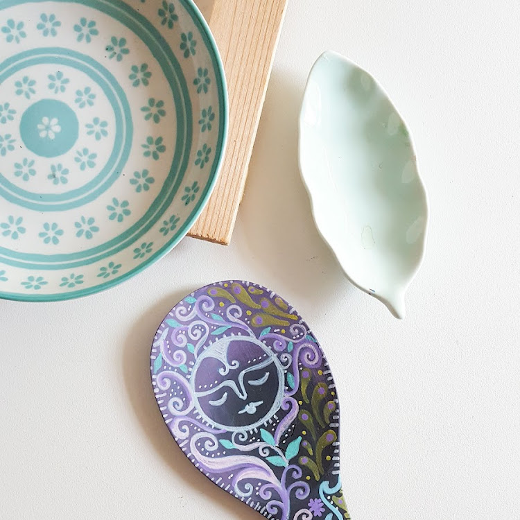 HAND PAINTED SPOON ART 'ONDINE'
