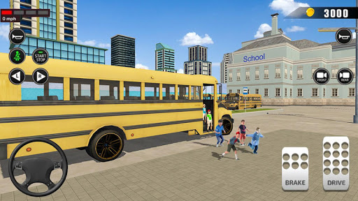 Offroad School Bus Driving: Flying Bus Games 2020 apkpoly screenshots 4