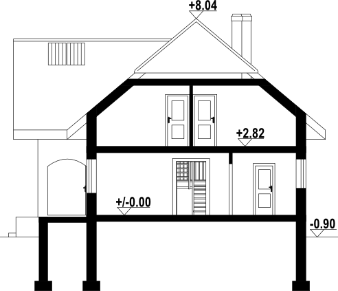 Sławopole - Przekrój