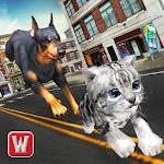 Dog vs Cat Survival Fight Game Icon