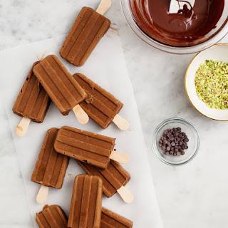 Chocolate Avacado Almond Pudding Pops