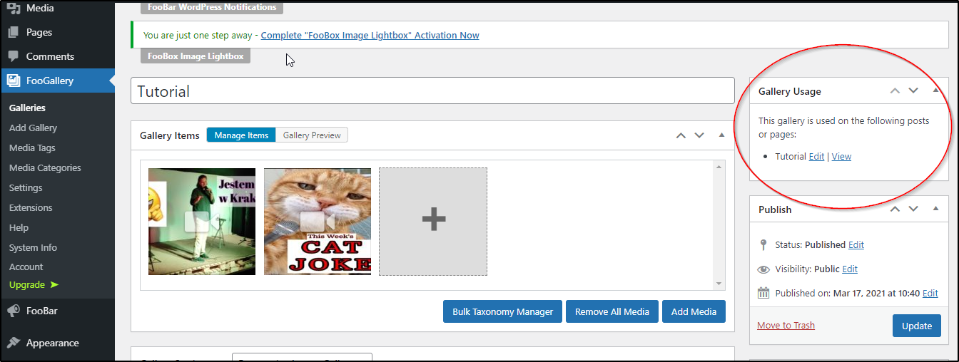 Create a video gallery page