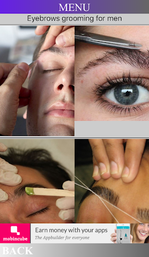 Man eyebrows grooming