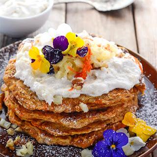 Gluten-Free Vegan Carrot Cake Pancakes
