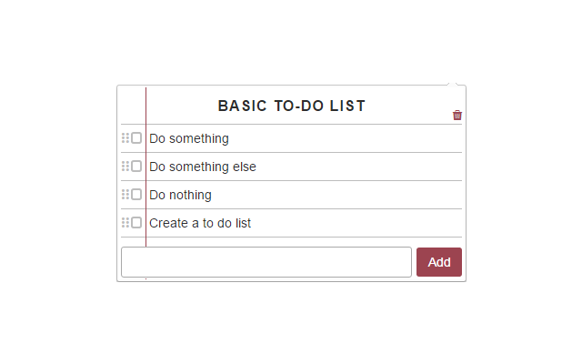 Basic To-Do List