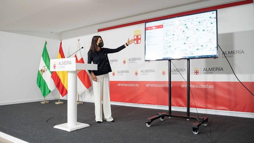 Presentación del visor por parte de María del Mar García Lorca